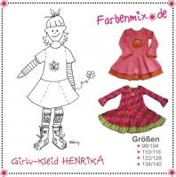 HENRIKA, Girly-Kleid, Papierschnittmuster