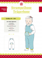 Strampelhose/Trägerhose, Klimperklein, Papierschnittmuster
