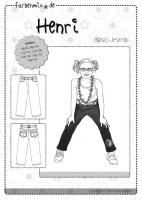 HENRI, Basic-Jeans, Papierschnittmuster