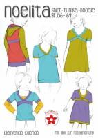 Noelita, Shirt Tunika Hoodie, Papierschnittmuster
