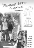 BERIT, Pullunder und Hose, Papierschnittmuster