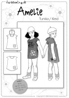 AMELIE, Tunika Kleid Papierschnittmuster