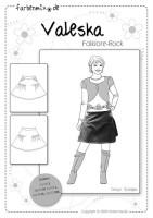 VALESKA, Damenrock, Papierschnittmuster
