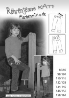 KATI, Slim Fit Jeans, Papierschnittmuster