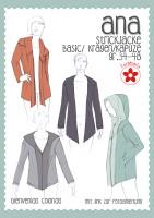 Ana, Damen-Strickjacke, Papierschnittmuster