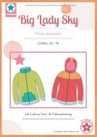 Big Lady Sky, Sweatjacke, Papierschnittmuster