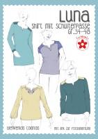 Luna, Damen-Passenshirt, Papierschnitt