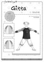 GITTA, Blusenshirt, Papierschnittmuster