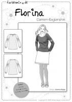 FLORINA, Damen Raglanshirt, Papierschnittmuster