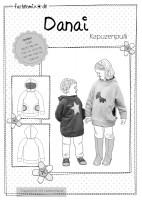 DANAI, Kapuzensweater, Papierschnittmuster